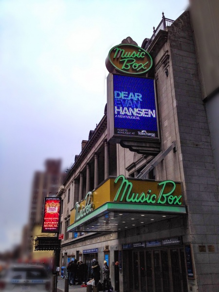 Dear Evan Hansen at The Music Box