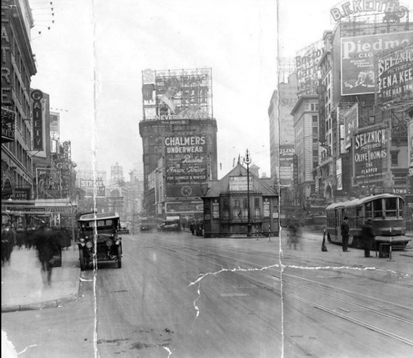 44th Broadway Looking North 1920
